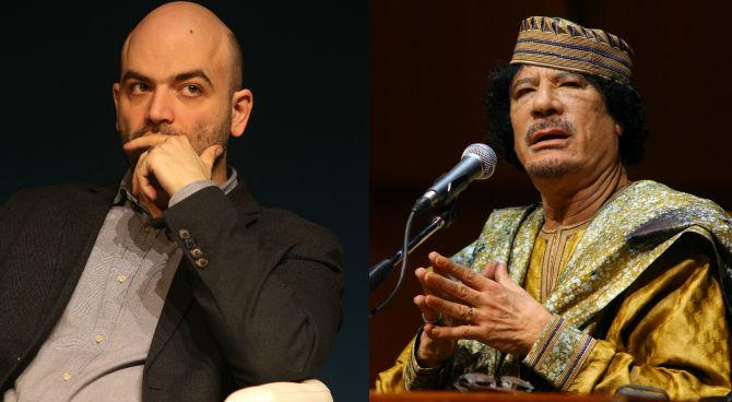 Roberto Saviano svela il suo nuovo progetto: una serie TV su Gheddafi